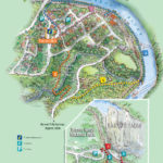 Kuranda township illustrated map showing walks