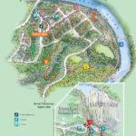 Kuranda township illustrated map showing walks