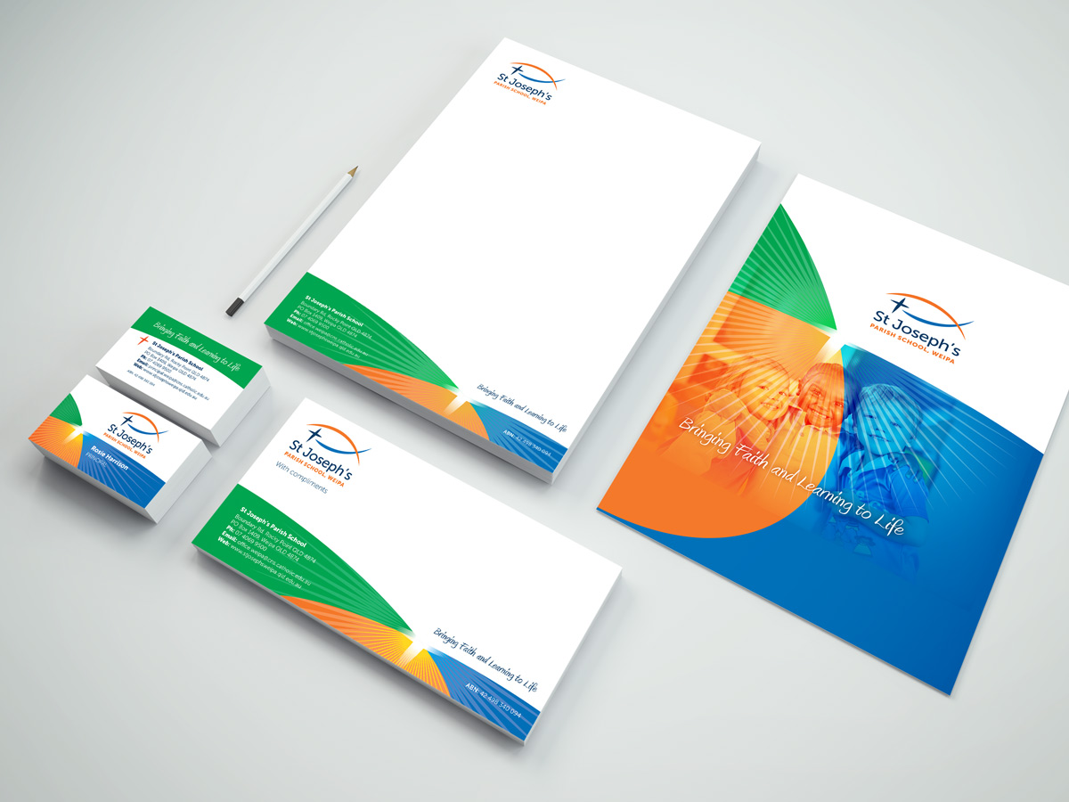 Logo and corporate identity design for St Joseph's Parish School, Weipa