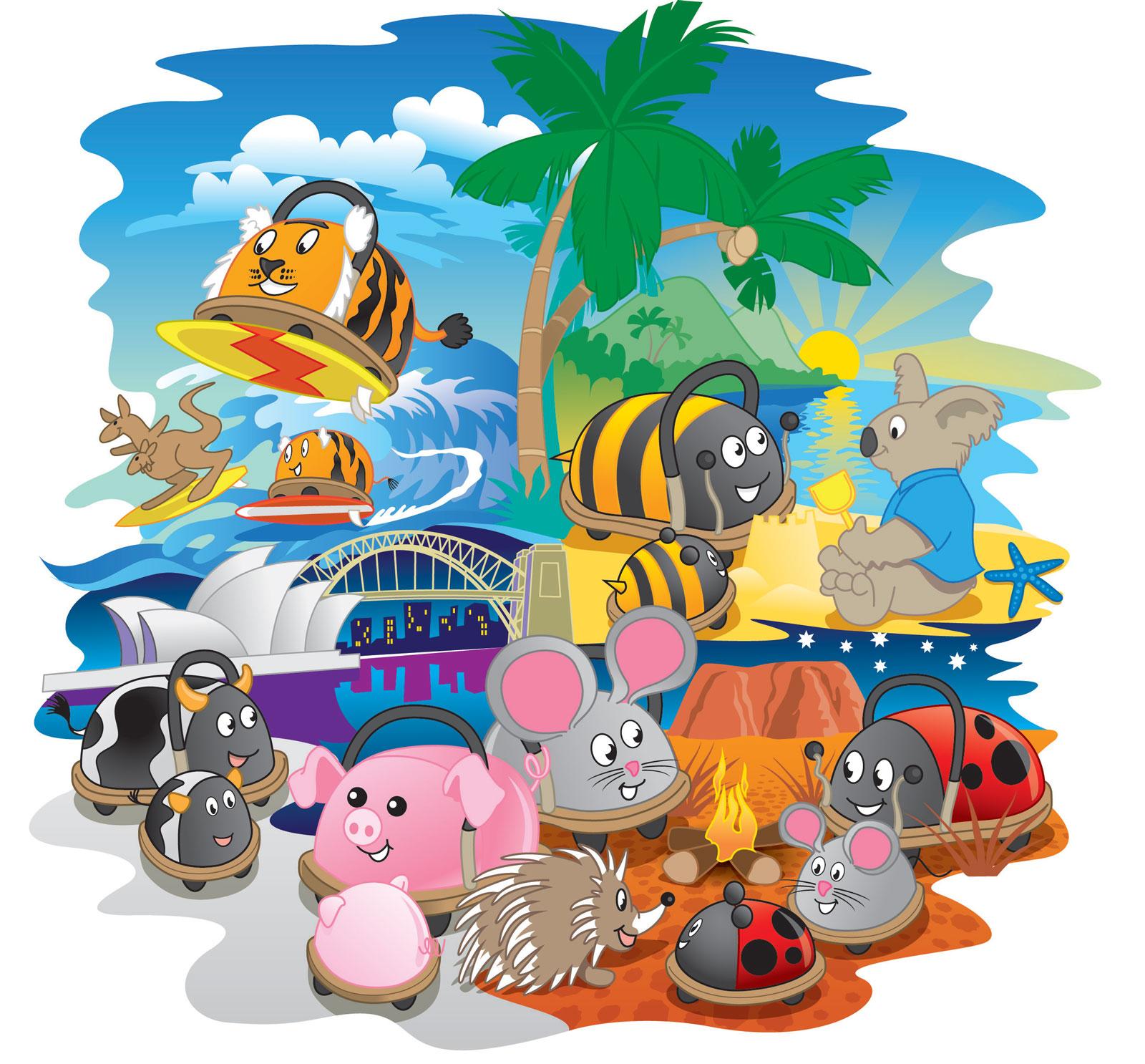 Wheelybug® toy illustration
