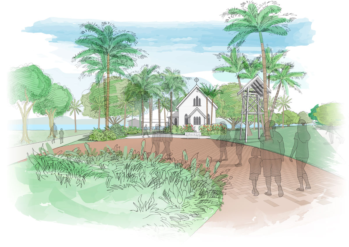 Concept illustration, Port Douglas foreshore development